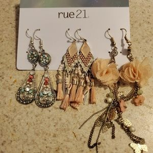 Rue21 earrings for sald all in perfect condition!